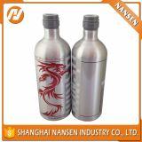 garrafa de água de alumínio da vodca do metal de 500ml 750ml 1000ml com na alta qualidade
