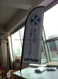 Bandeira personalizada do vôo da pena da praia do Teardrop de Pólo da fibra de vidro (SU-FG8)
