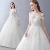 Wholesale A - Zeile Schatz weg vom Schulter-Hochzeits-Kleid mit Applique