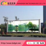 Publicidad al aire libre por completo impermeable de la tablilla de anuncios de LED de los colores completos P10