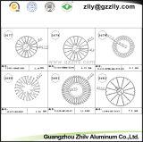 Het Profiel Heatsink van het Aluminium van de deklaag/het Bouwmateriaal van het Aluminium