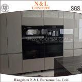 Weißer grauer Lack-Handle-Less Entwurfs-Polyurethan-Küche-Möbel
