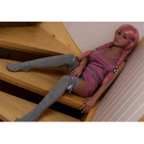 140cmの骨組最上質の黒いシリコーンの性の人形