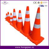 """18 """" عال 2 [لب] برتقاليّ حركة مرور مخروط مع 4 """" طوق انعكاسيّة"""