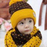 機械を編むか、または作る暖かい帽子及びスカーフ