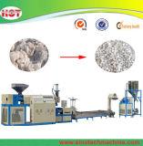 Plastik-HDPE-LDPE-Körnchen, das den Strangpresßling herstellt Maschine aufbereitet