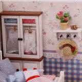 La venta al por mayor juega la casa de muñeca de madera del juguete del bebé barato