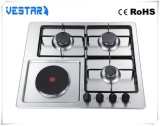 Hob do gás do aço inoxidável de aparelho electrodoméstico do queimador do dispositivo de cozinha 4