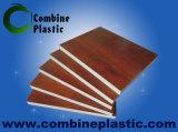 木製の穀物PVCフィルムはPVC泡のボードに直面した