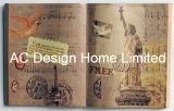 Arte di legno famosa della parete di figura del libro dell'unità di elaborazione Leather/MDF della costruzione