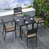 Patio-Möbel stellten 4 Seater und Abendessen-quadratische Tisch-Sets für Garten Hotal Dachspitze ein
