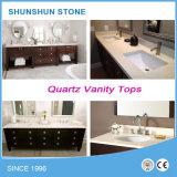 Partie supérieure du comptoir artificielle préfabriquée de cuisine de pierre de quartz pour les Etats-Unis