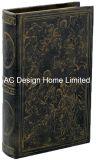 Antigüedades baratos relieve Vintage de cuero de PU/almacenamiento de madera MDF cuadro Libro