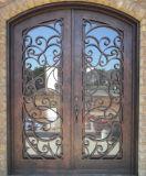 Брови верхней части красивый двойной Wrougt железные двери гриль