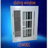 Finestra di scivolamento sociale della lastra di vetro UPVC del doppio di progetto