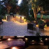LEDの擁壁は低電圧の景色の照明をつける