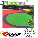 Pista de corrida atlética colorida de borracha sintética EPDM