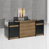 Comptoir de design moderne Sélection élégante des couleurs Mélamine Bureau de réception Mobilier de bureau