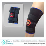 Стабилизируя прикрепленная на петлях расчалка поддержки колена с мягкой подкладкой