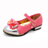 ميري [جن] [ودّينغ برتي] لون قرنفل إنحناء مدرسة أحذية لأنّ بنات