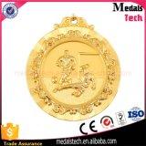 Médaille ronde antique faite sur commande bon marché du football en métal 3D