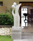 Sculpture de marbre blanche Main-Découpée de Carrare pour la décoration à la maison
