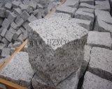 Природные Split серого гранита G603 асфальтирование мощеной Cubestone точильного камня