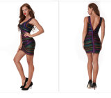 Платье повелительниц без бретелек короткое с сексуальный Backless платьем