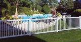 PVCプラスチック白いプールの塀/PVC Valla De Jardin