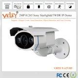 Videocamera di sicurezza del IP di Intellgent Varifocal esterna per il sistema di sorveglianza del CCTV