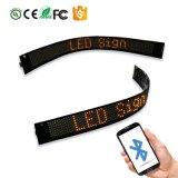 La fabbrica personalizza il segno flessibile di Scrolling LED di disegno P3.75-7X80 Bluetooth per i pattini dei vestiti del cappello