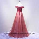 نساء شريط عروس مأدبة حب زورق عنق [فلوور-لنغث] مساء ثوب