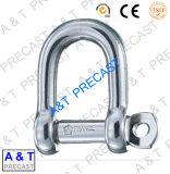 La goccia ha forgiato il tipo d'acciaio anello di trazione di D di ancoraggio per hardware d'acciaio ambientale