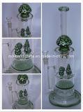 Vente de champignons chaud fumer pipes à eau percolateur verre alvéolaire barboteur tuyaux du tabac
