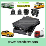 手段バスCCTVの監視のためのGPS 3G 4G WiFi 4CH SDのカード移動式DVR