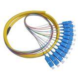 Le type rond 12 coeurs amorce en fibre optique SC