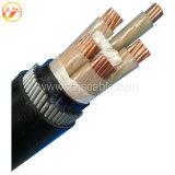 Le système mv XLPE a isolé le câble électrique de bande de gaine blindée en acier de PVC
