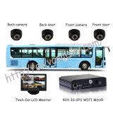 School Bus Mobile DVR com Mini SD Card GPS portátil segurança WiFi