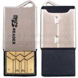 極度の薄い金属USBマイクロSDのカード読取り装置(S1A-8017D)
