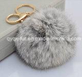 2014 New Style Faux Fox Fur Ball Keychains para saco / carro / decoração para casa