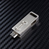 Mini movimentação do flash do metal OTG à movimentação da pena do USB das varas da memória do PC 4GB 32GB 16GB 8GB da tabuleta do telefone móvel para o telefone móvel