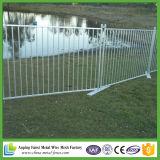 Painel de cerca de piscina revestida em pó preto de 1,2 x 2,,4 m