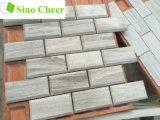 Azulejo de mosaico de mármol de madera gris del ladrillo