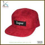 Zoll fünf 5 Panel-Schutzkappe des Panel-Hut-rote Veloursleder-5