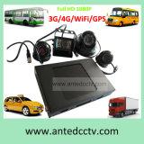 Disco rígido WiFi no carro CCTV DVR e 4 HD 1080P Câmera para o caminhão escolar Caminhão de táxi Sistema de vigilância de vídeo CCTV