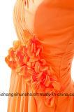 Безрукавный длиннее шифоновое Bridal платье Bridesmaid мантии свадебного банкета мантий