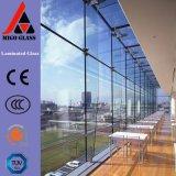 PVB plastifié buildling en verre pour façades, cloisons, portes