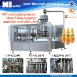 Arrivée automatique de bouteille de jus / production / ligne de traitement