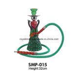Narghilé medio dell'Arabia Saudita di figura di Uniqe del narghilé della resina calda di vendita 2017 con il buon tubo di fumo
