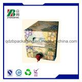 Sacchetto di plastica della stagnola in casella con il becco o la valvola